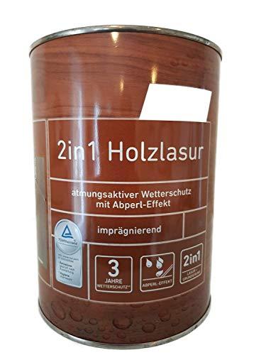 Ostendorf 2in1 Holzlasur Imprägnierend Innen/Außen 0,75 Liter Farbwahl, Farbe:Tannengrün