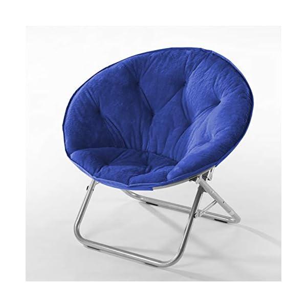 Urban Shop Faux Fur Saucer Chair with Metal Frame