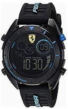 フェラーリ[Ferrari] デジタルメンズウォッチ クォーツMen's Watch男性用腕時計ラバーベルト ブラック×ブルー 830550 平行輸入品 [並行輸入品]