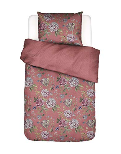 ESSENZA Elizabeth Bed Linen Floral Cotton Satin Pink 135 x 200 cm + 1x 80 x 80 cm