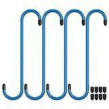 4 Stück Bremssattel Haken Bremssattelaufhänger mit Gummispitzen, Kfz-Werkzeug für Brems-, Lager-, Achs- und Federungsarbeiten (Blau, 4 Stk.)