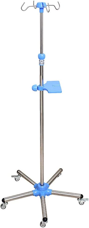 Portable IV Pole Drip Stand with Great interest 5 Casters Stainless New life Steel Move