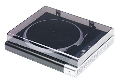Mac Audio TT 100 BK E | Plattenspieler mit Bluetooth und LED-Light-Show | integrierter Phono-Vorverstärker - schwarz/silber