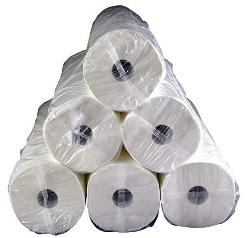 DJ Group Everest, cellulosetissue, tussenblad gelijmd, wit, 2-laags, elk 50 cm x 80 m - doos met 6 rollen lig-afdekking hygiënische massage-lig-bescherming papierrol
