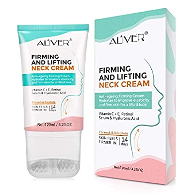 ALW Beauty Neck Firming Cream, Neck Tightening and Lifting Cream, Neck & Décolleté Moisturizer, Neck Cream for Anti-Aging, Wrinkles and Age Spots, Reduce Double Chin,Firm Sagging Skin, 120 ml