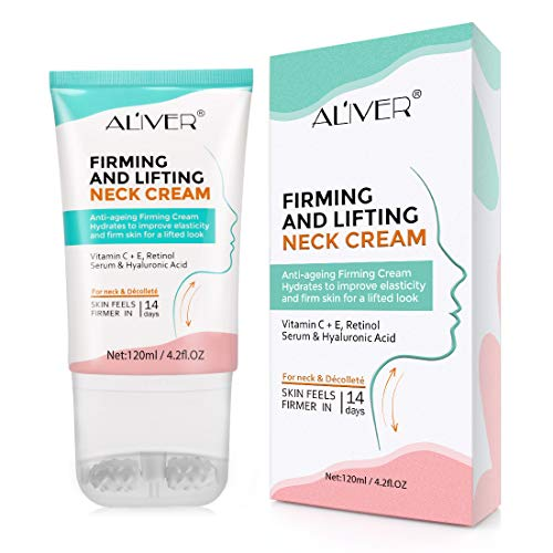 Neck Firming Cream, Neck Tightening and Lifting Cream, Moisturizer for Neck & Décolleté, Neck Cream for Anti-Aging, Wrinkles and Age Spots, Reduce Double Chin,Firm Sagging Skin, 120 ml