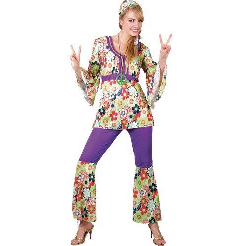 Disfraz hippie para mujer hippie de los aos 60 y 70 Mod, retro, clsico, talla S, talla S (Reino Unido: 10-12, busto 34-36 pulgadas, cintura 27-29 pulgadas, caderas 37-39 pulgadas