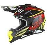 O'NEAL   Casco de Motocross   MX Enduro   Carcasa de ABS, Norma de Seguridad ECE 22.05, Ventilación para una óptima refrigeración   Casco 2SRS Rush V.22 Adulto   Amarillo Neón   Talla L