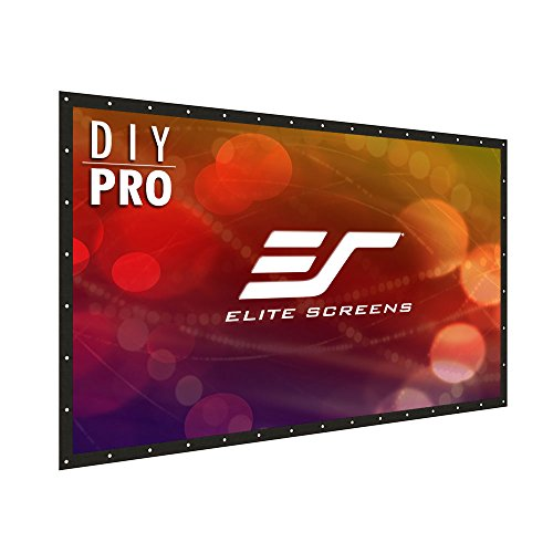 Elite Screens DIY PRO, Indoor Outdoor Portable Projector screen PVC 160-inch 16:9, 8K 4K Ultra HD 3D Movie Theater Cinema 160' Projection Screen with Grommets, Roll-Up Hang Anywhere, DIY160H1