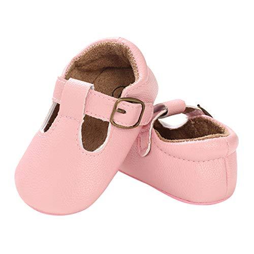 DERCLIVE Zapatos antideslizantes para bebés y niñas de 0 a 12 m