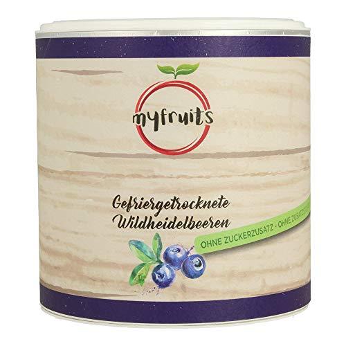 myfruits® Wildheidelbeeren - gefriergetrocknet - ohne Zusätze, zu 100% aus Heidelbeeren, gesunde Zutat für Müsli oder Porridge (1er Pack)