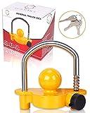 Turnart Trailer Lock, Hitch Lock, Trailer Hitch Lock, Trailer Coupler Lock, Trailer Tongue Lock, Adjustable, Heavy-Duty Steel, Universal Size Fits 1-7/8