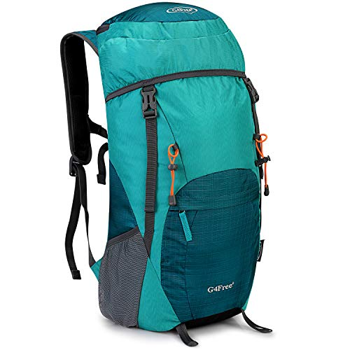G4Free Lightweight Packable Hiking Backpack 35L Travel Camping Daypack Foldable(Light Green)