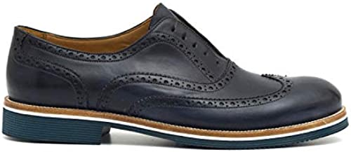J. Wilton - Oxford schuhe in Very Soft Hand Waxed braun Leather - 691 196VENICE Blau