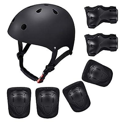 Helm, Knieschoner, Ellbogen- und Handschützer für Tretroller, Hoverboard, BMX- Fahrrad, für Kinder