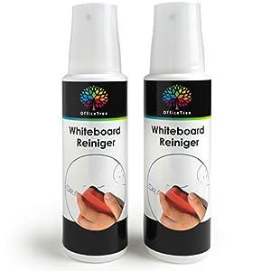 OfficeTree Limpiador Pizarra Blanca 2 x 250 ml – Spray Limpieza Pizarra Blanca Tablero Magnético Flipchart Whiteboard en…