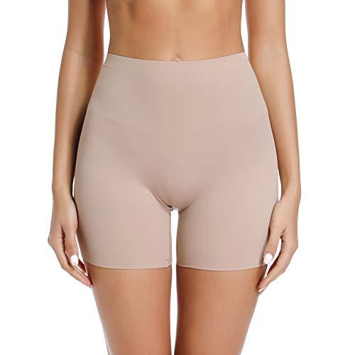 Joyshaper Damen Unterhose Sicherheit Short Nahtlose Panty Miederhose Unterwäsche Kurze Hose Unter Rock Kleid Hose oder Zuhause, Beige, XL