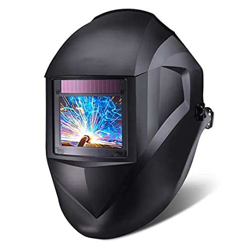 Welding Helmet 3.94'x2.87', True Color Lift Auto Darkening Welding Mask, 4 Arc Sensor, Variable Wide Shade (3,4-8,9-13), for TIG MIG ARC -PAH03D