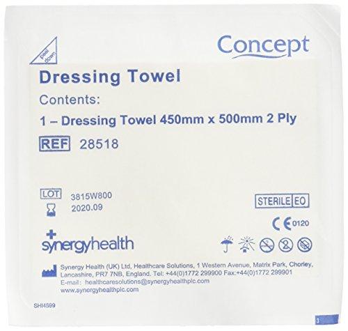 Synergy Health vc28518 jurk handdoek 45 x 50 cm tweelaags (25 stuks)
