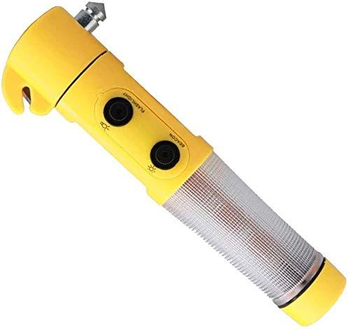 SBJG LED-Licht-Auto-Sicherheits-Hammer Notfall-Entweichen-Werkzeug Magnetic Schwarz 3V Lässige Kleidung, Reisen, Outdoor, etc 2W 1215