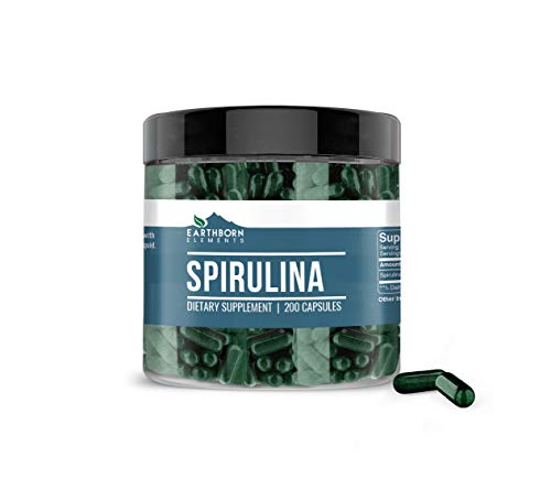 Spirulina, Pure & Natural, Gluten-Free, Phytonutrient-Rich & Non-Irradiated (1800 mg Serving)