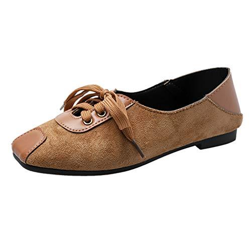 NPRADLA - Zapatos de Verano para Mujer, diseño de Lunares, Amarillo (Amarillo), 37 EU Large