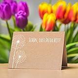 Partycards 50 Tischkarten/Platzkarten DIN A7 für Hochzeit, Geburtstag, Kommunion, Taufe (Kraftpapier und Pusteblume) - 3