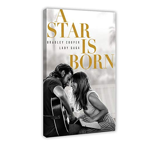 American Singer Lady Gaga A Star Is Born Soundtrack Album copertina 1 poster di tela di canapa decorazione per camera da letto Sport paesaggio ufficio decorazione stanza regalo 60 x 90 cm Frame-style1