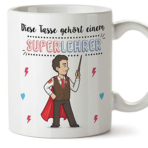 Lehrer Tasse/Becher/Mug Geschenk Schöne and lustige kaffetasse - Diese Tasse gehört einem Super-Lehrer - Keramik 350 ml