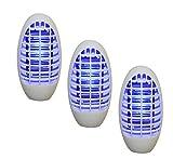 3x UV Steckdose Mückenvernichter Insektenvernichter Mückenstecker Insektenlampe
