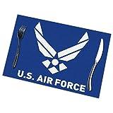 Ha99y Air Logo Tischsets für Esstisch Set aus 6 Stück waschbarem Polyester 12x18 aus gewebten...