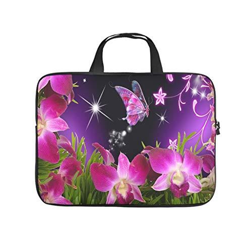 Bolsa para ordenador portátil impermeable con diseño de flores y mariposas