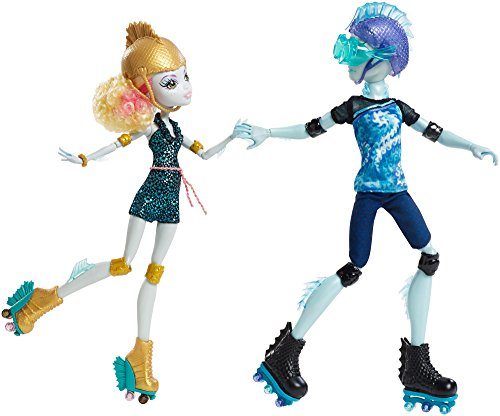 Monster High Lagoona Blue and Gil Weber Rollschuh Liebe, Puppen Doppelpack