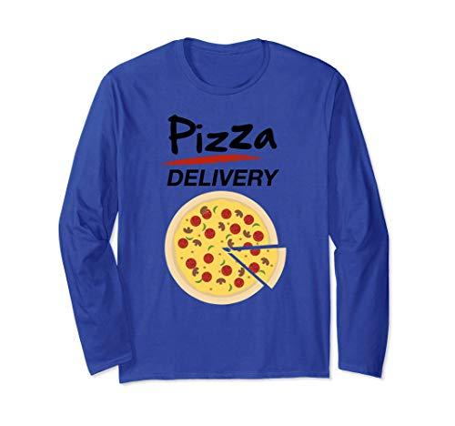 Disfraz de Repartidor Pizzas para Grupos Hombre Mujer Nios Manga Larga