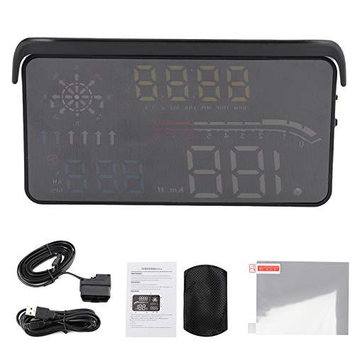 Universal Car HUD Head Up Display Mufti-Function Head Up Display OB_D2 + Monitor de proyección GPS Función de alarma Pantalla de parabrisas HUD