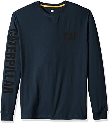 Caterpillar Herren Trademark Banner Long Sleeve Arbeits-T-Shirt, Dark Marine, XL Hoch