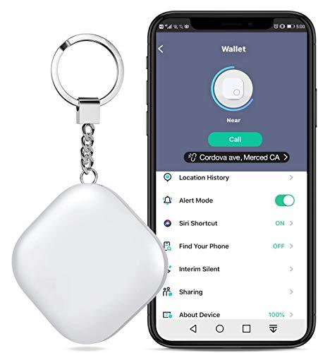 Schlüsselfinder, BEBONCOOL Schlüsselanhänger Keyfinder mit App Bluetooth Schlüsselfind, Bluetooth Tracker Schlusselfinder kompatibel mit IOS & Android, One-Touch Find, 8-12 Monate Spieldauer, Weiß