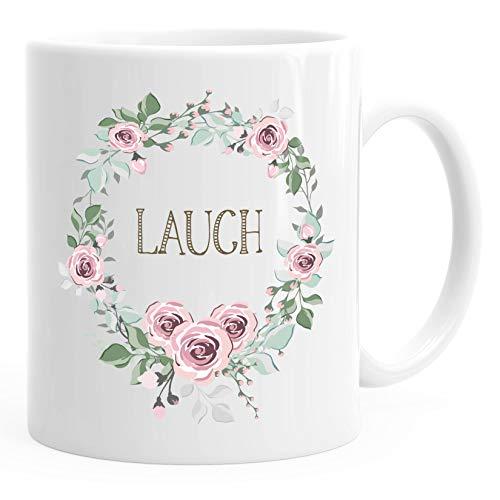 Kaffee-Tasse Schimpfwörter Beleidigung Ironie Geschenk-Tasse lustige Büro-Tasse MoonWorks® Lauch weiß unisize