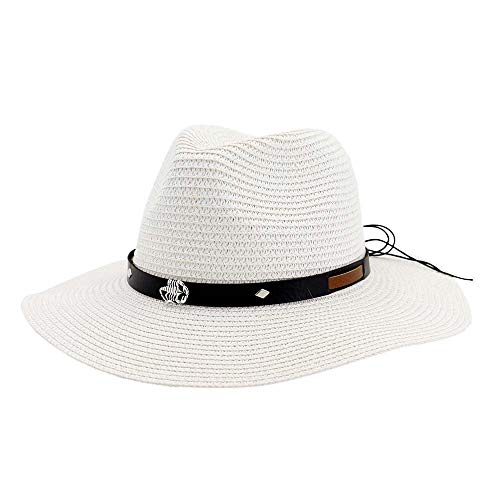 XYAL-Hats Xingyue Cilinderhoed en hoed voor cowboy, unisex strandhoed, doe-het-zelf riem, banamapet voor mannen, bruin, seaside, zon, vizier, hoed voor dames en heren, maat 58 cm