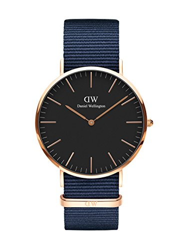 Daniel Wellington Classic Bayswater, Nachtblau/Roségold Uhr, 40mm, NATO, für Herren
