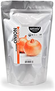 Spicely Organic Onion Powder 1 Lb Bag Certified Gluten Free