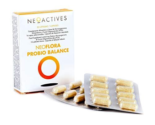 NeoFlora Probio Balance | 53 billones de microorganismos por cápsula (5,3x10^10) | Suplemento con Bifidobacterias, lactobacilus | Ayuda en afecciones intestinales, control de diarreas y estreñimiento.
