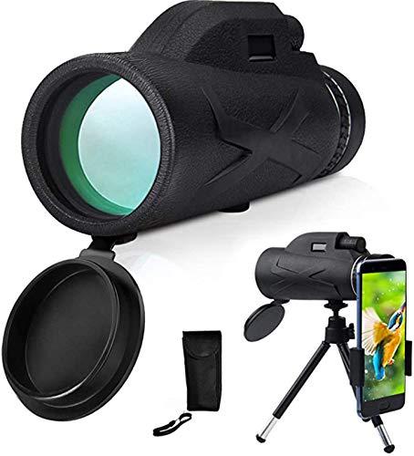 ASDF Monokular starscope Teleskop monocular- 80X100 High Power HD Monokular, Mit Smartphone Halter & Stativ Wasserdichtes Monokular Mit Für Vogelbeobachtung, Camping, Wandern, Reisen