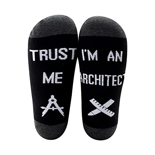 MYSOMY Regalos divertidos del arquitecto Trust Me I'm an Architect Socks Architecture Gifts for Architect Student