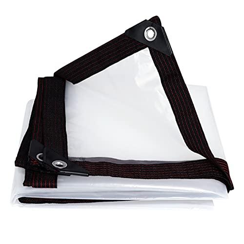 HAI RONG Clear Tarps Waterproof tarpaulin Thicken Windproof balcony Multipurpose Rain cloth Block windows Keep warm Plastic cloth Premium tarp (Color : CLEAR, Size : 400X1200CM)