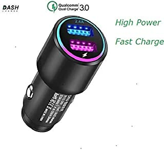 Dash Car Charger for Oneplus 6T/6/5T/5/3T/3/7/7 Pro, Dual USB Charging Rapidly Car Charger OnePlus Quick Dash Charge for One Plus 3 / 3T / 5 / 5T / 6 / 6T / 7/7 Pro (Black)
