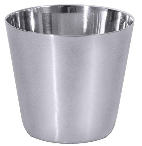 Dariolform aus Edelstahl 18/10, hochglänzend, mit gerade auslaufendem Rand, schwere Qualität/Inhalt: 75, 125 oder 150 ml | ERK (A3 - Inhalt: 150 ml)