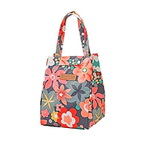 LTGABA Borsa per Il Pranzo Donna Mano PACCHETTA HANDACCIO TERMALE PICCOLATORE PICNICO Picnic Viaggio Fashion Multicolor Cooler Bags (Color : Flowers)