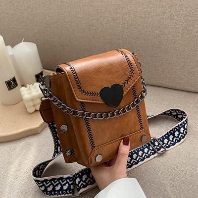 wbwlfjtlll Bags Women's Soldering OFFicial store Korean Retro Lock Ph Heart-Shaped Mobile