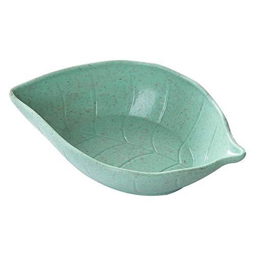 Plato de salsa de hojas para salsa, plato para salsa, plato de soja, salsa, aperitivo, plato pequeño para suministros de cocina (color: verde claro)
